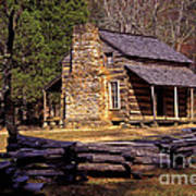 Appalachian Homestead Poster by Paul W Faust -  Impressions of Light