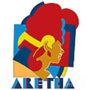 Aretha Franklin No.05 Poster by Caio Caldas