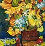 Arizona Sunflowers Poster by Sherry Harradence