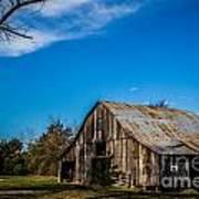 Arkansas Barn And Blue Skies Poster by Jim McCain