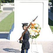 Arlington National Cemetery - Tomb Of The Unknown Soldier - 121214 Poster by DC Photographer
