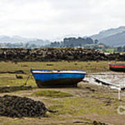Asturias Seascape With Boats Poster by Frank Tschakert