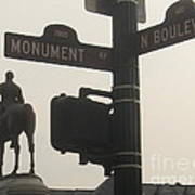 at Monument and Boulevard Poster by Nancy Dole McGuigan
