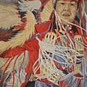 At The Powwow Poster by Wanda Dansereau