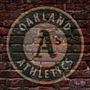 Athletics Baseball Graffiti On Brick  Poster by Movie Poster Prints