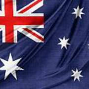 Australian Flag Poster by Les Cunliffe