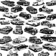 Automotive Pen And Ink Poster Poster by Jack Pumphrey