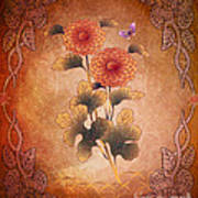 Autumn Blooming Mum Poster by Bedros Awak