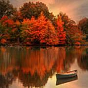 Autumn Canoe Poster by Robin-lee Vieira
