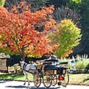 Autumn Carriage Ride Poster by Barbara McDevitt