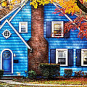 Autumn - House - Little Dream House  Poster by Mike Savad
