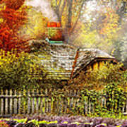 Autumn - House - On The Way To Grandma's House Poster by Mike Savad