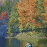 Autumn On The Lake Poster by Marna Edwards Flavell