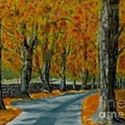 Autumn Pathway Poster by Anthony Dunphy