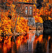 Autumn Reflections  Poster by Bob Orsillo