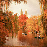 Autumn Trees - Central Park - New York City Poster by Vivienne Gucwa