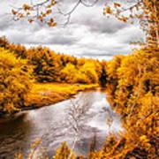 Autumn White Mountains Maine Poster by Bob Orsillo