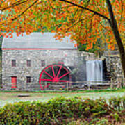 Auutmn At The Grist Mill Poster by Michael Blanchette
