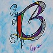 'b' Monogram Poster by Joyce Auteri