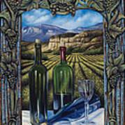 Bacchus Vineyard Poster by Ricardo Chavez-Mendez