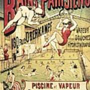 Bains Parisiens. Advertisment Marking Poster by Everett