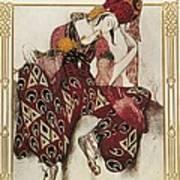 Bakst, Léon 1866-1924. La Péri. 1911 Poster by Everett