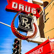 Balboa Pharmacy Drug Store Newport Beach Photo Poster by Paul Velgos