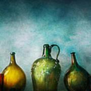 Bar - Bottles - Green Bottles  Poster by Mike Savad