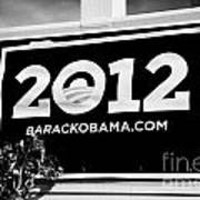 Barack Obama 2012 Us Presidential Election Poster Florida Usa Poster by Joe Fox