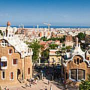 Barcelona Park Guell Antoni Gaudi Poster by Matthias Hauser