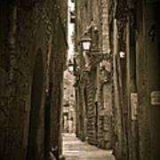 Barcelona Street Poster by Mesha Zelkovich