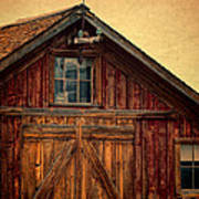 Barn With Weathervane Poster by Jill Battaglia