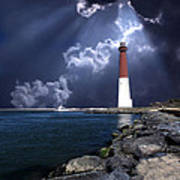 Barnegat Inlet Lighthouse Nj Poster by Skip Willits