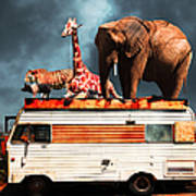 Barnum And Bailey Goes On A Road Trip 5d22705 Poster by Wingsdomain Art and Photography