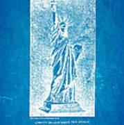Bartholdi Statue Of Liberty Patent Art 1879 Blueprint Poster by Ian Monk