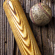 Baseball Bat And Ball Poster by Garry Gay