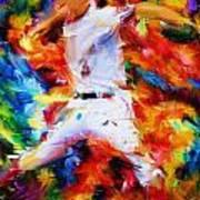 Baseball  I Poster by Lourry Legarde