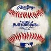 Baseball Iv Poster by Lourry Legarde