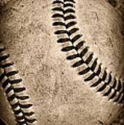 Baseball Old And Worn Poster by Paul Ward