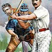Baseball Player At Bat Poster by Unknown