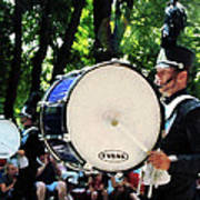 Bass Drums On Parade Poster by Susan Savad