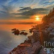Bass Harbor Sunset Poster by Adam Jewell