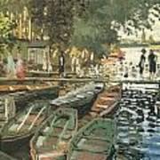 Bathers At La Crenovillere Poster by Claude Monet