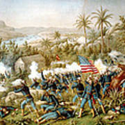 Battle Of Qusimas Poster by Kurz and Allison