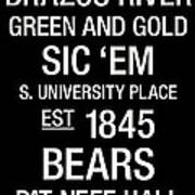 Baylor College Town Wall Art Poster by Replay Photos