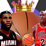 Bball Kings Poster by Michael Chatman