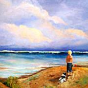 Beach Buddies Poster by Susan M Fleischer