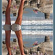 Beach Scene Poster by Betsy C Knapp