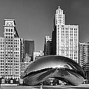 Bean Skyline Poster by Mike Burgquist