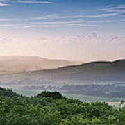 Beautiful English Countryside Landscape Over Rolling Hills Poster by Matthew Gibson
